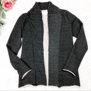 Romeo Juliet Couture Gray Heathered Open Cardigan